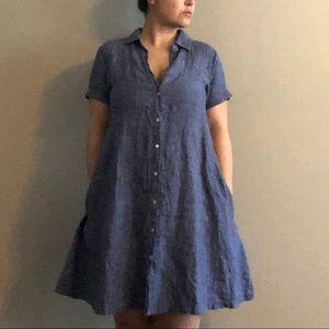 Tahari Linen Swing Dress, Size Medium